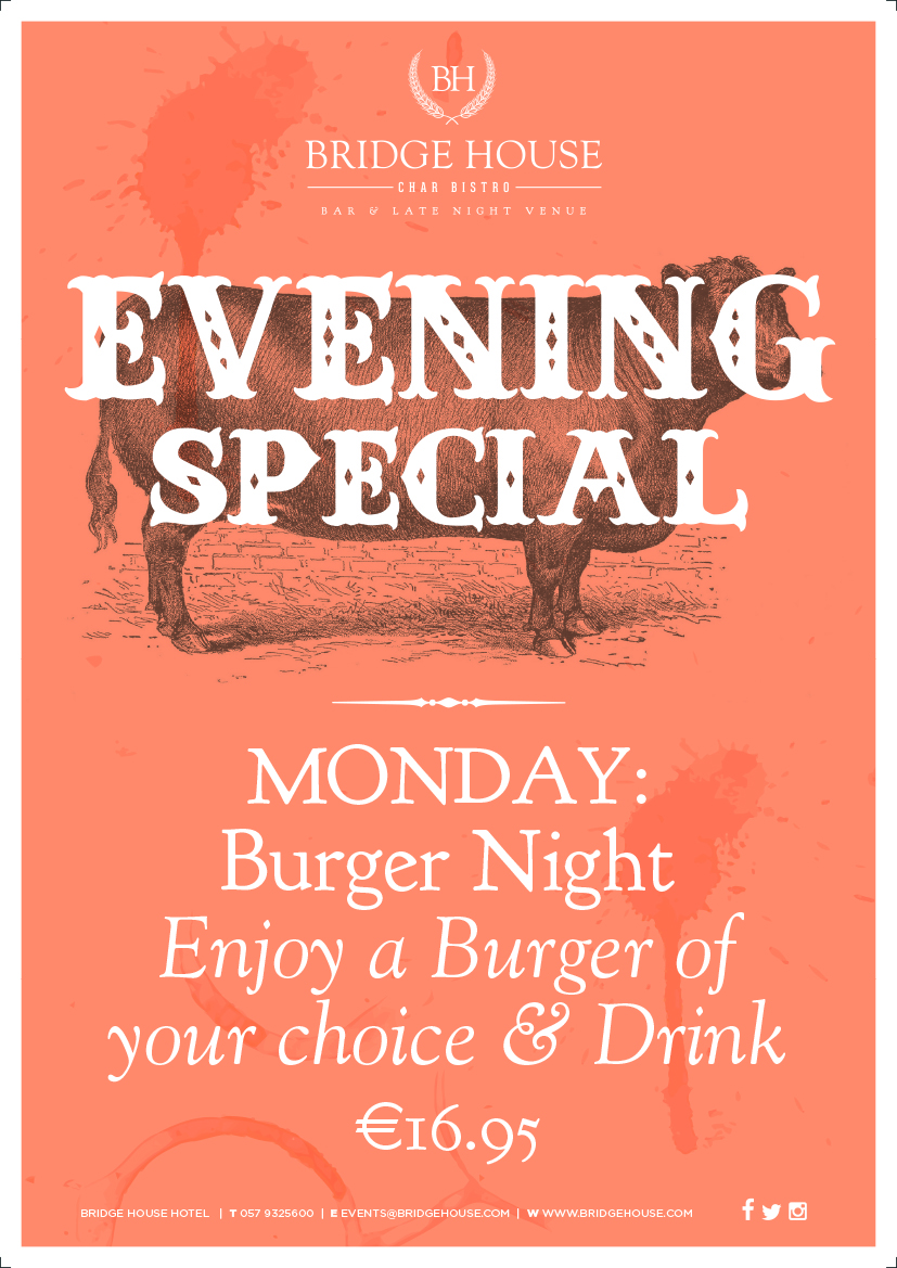 Monday Bar Food Special at the Bridge Bar
